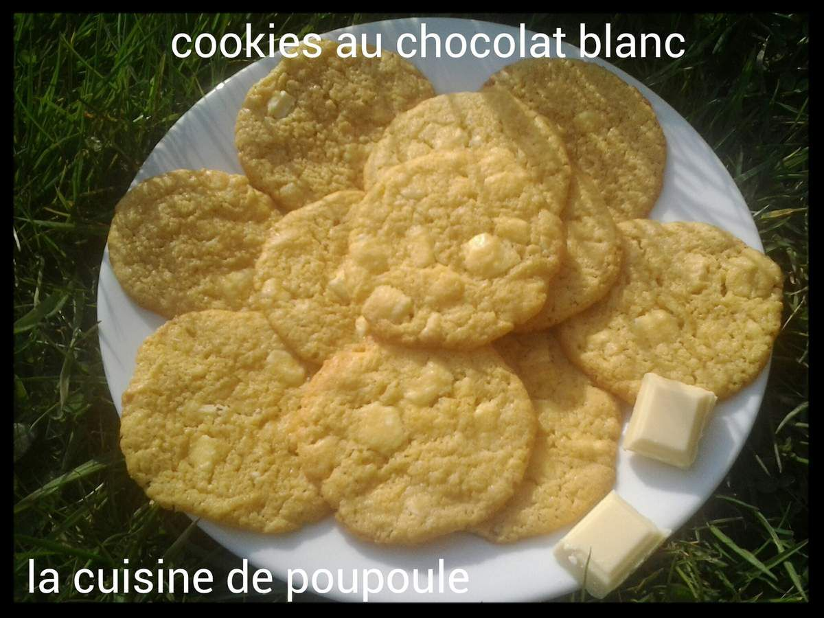 Cookies au chocolat blanc au thermomix ou Kitchenaid