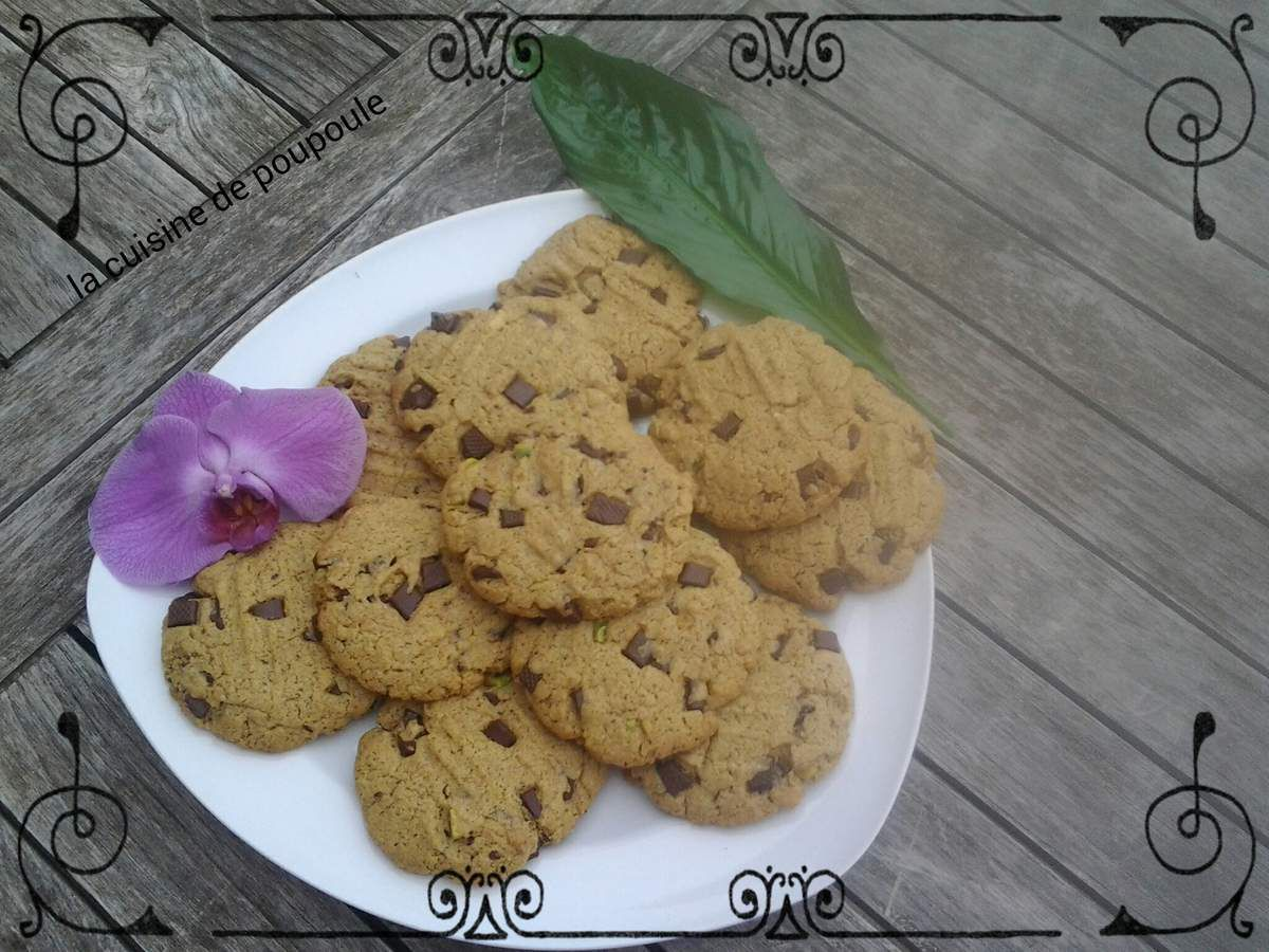 Cookies à la pistache au thermomix ou kitchenaid