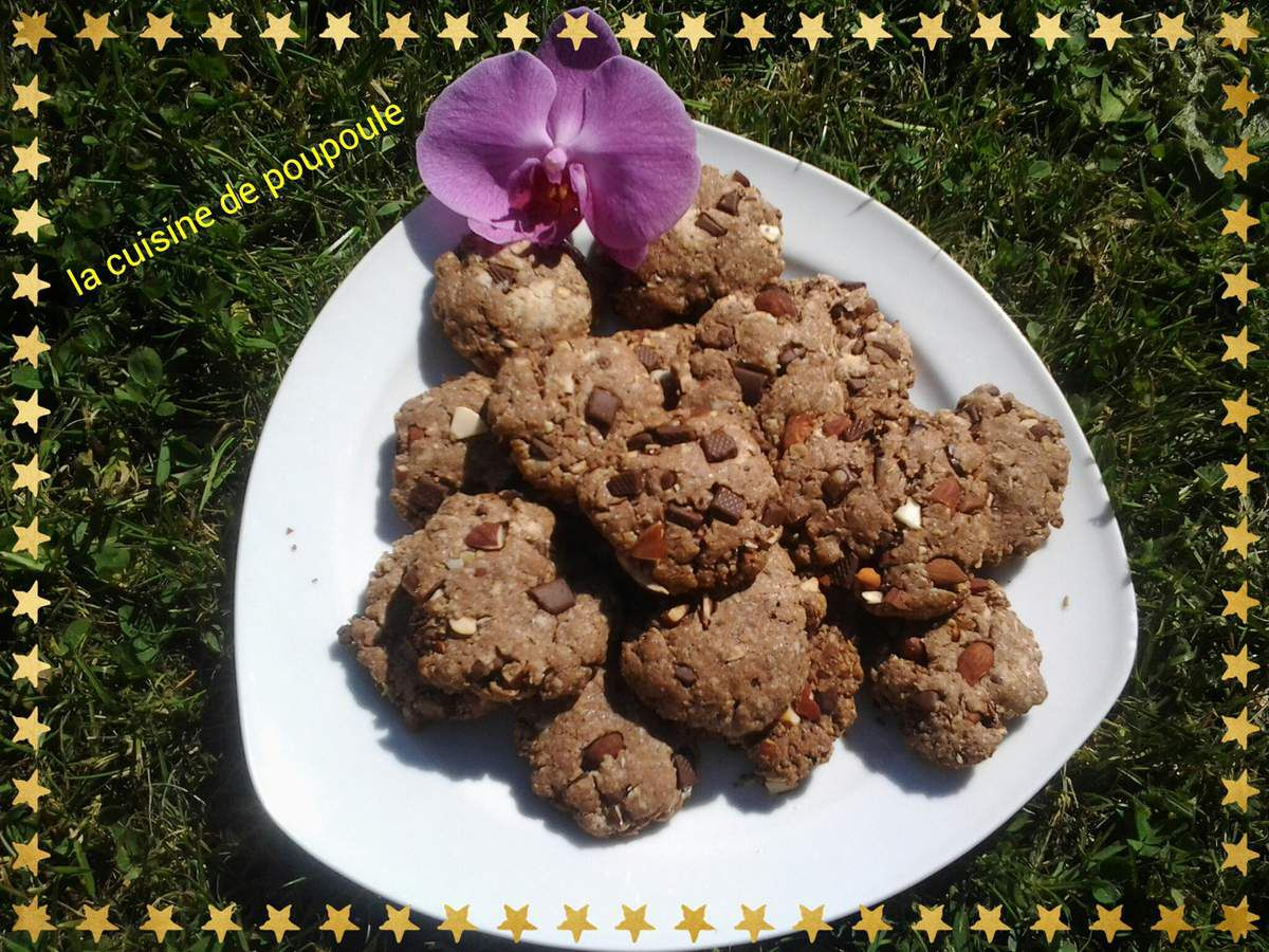 Cookies Vegan aux flocons d'avoine au thermomix ou sans