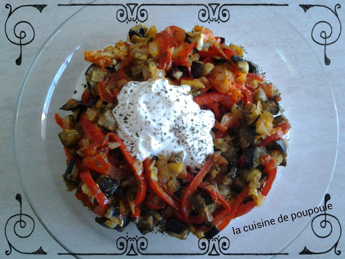 Bandjan bourani ou aubergine aux yaourts