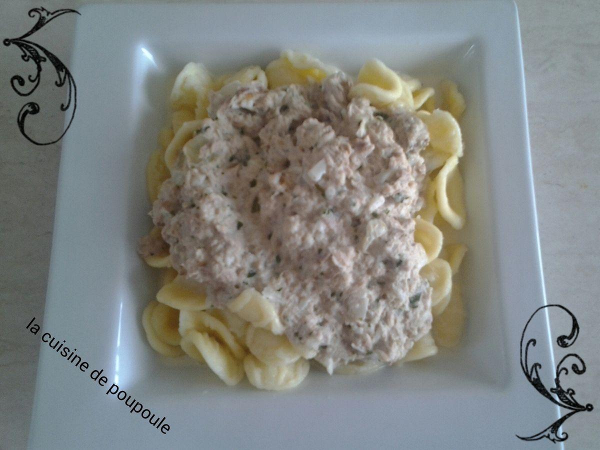 Orecchiette sauce au thon