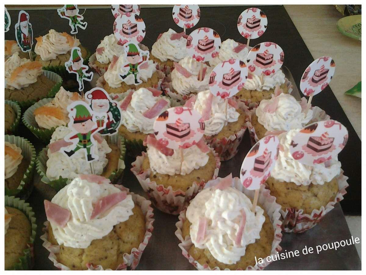 Cupcake jambon moutarde au thermomix ou sans