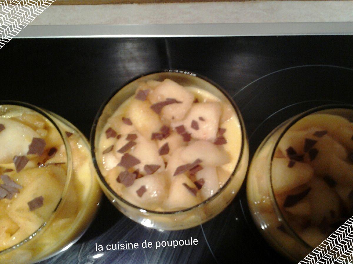 Verrines aux oranges, pommes et spéculos au thermomix