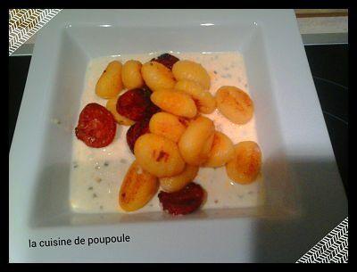 Gnocchis au chorizo et parmesan