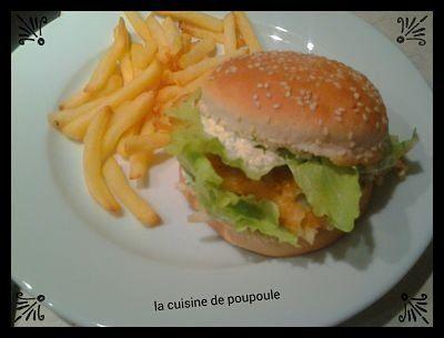 hamburger poisson frites