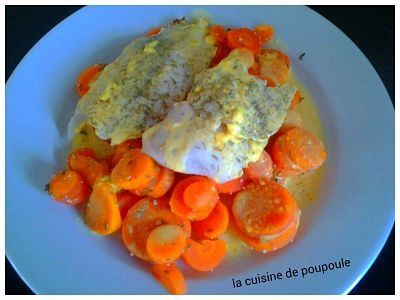 Filet de cabillaud aux carottes et sauces au curry au thermomix ou sans