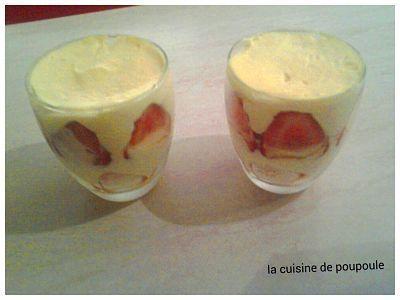Tiramisu au fraises de Christophe Fleder