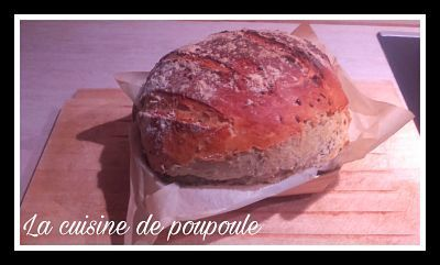 Pain aux graines de lin au thermomix ou kitchenaid