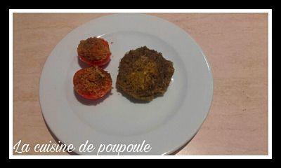 Steak de lentilles et tomates à la provençale au thermomix ou sans (végan)