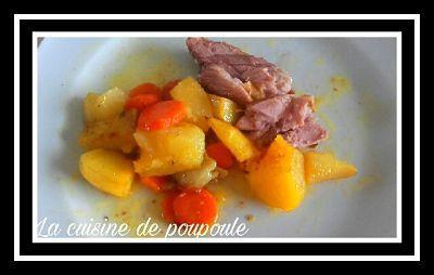Jambonneau, carottes, pommes de terre aux épices pour la Nonna