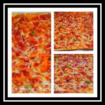 Pizza liquide jambon moza au thermomix ou sans