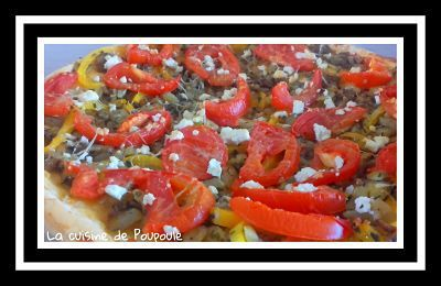 Tarte fine aubergines, tomates, poivrons au thermomix ou sans