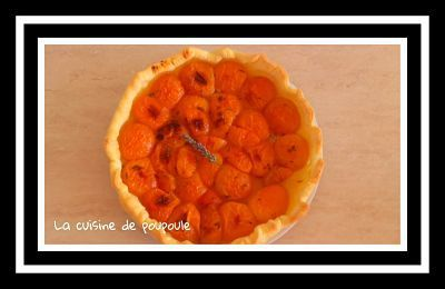 Tarte abricots lavande au thermomix ou sans
