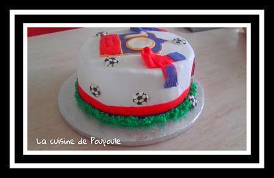 Tuto gâteau Olympique Lyonnais (gâteau à la vanille et ganache chocolat) au thermomix ou sans