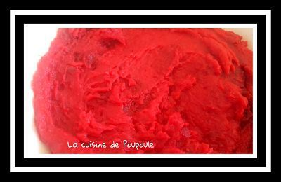 Purée de Betterave rouge au thermomix ou sans