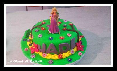 Tuto gâteau Raiponce (Molly cake au chocolat ganache framboise)