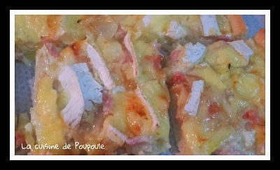 Pizza Normande ( Camembert et pomme) au thermomix ou sans