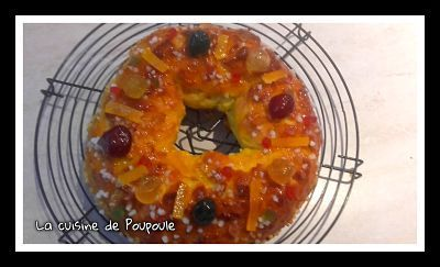 Brioche des rois au fruits confits de Christophe Fleder au kitchenaid