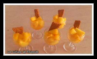 Verrines ananas miel à l'actifry