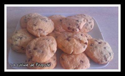Cookies (biscuits) sans gluten sans lactose aux pépites de chocolat au thermomix ou sans