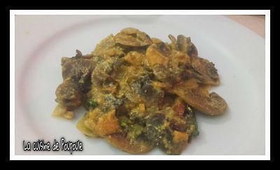Champignons à la crème de curry