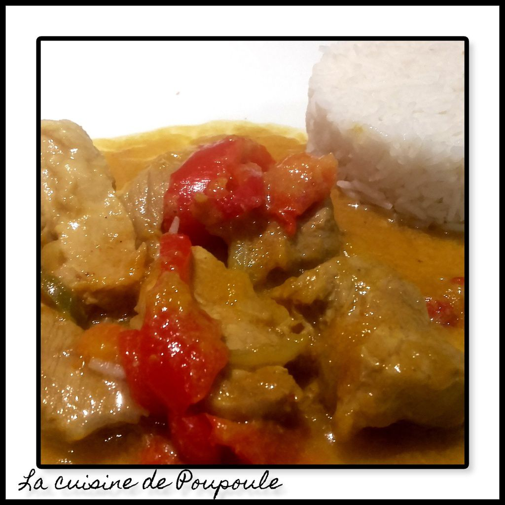 Porc curry mangue
