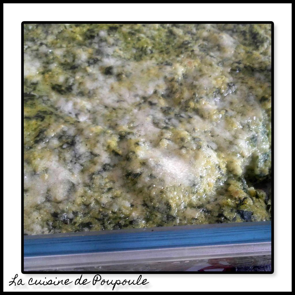 Polenta aux épinard de Michèle (sans gluten)
