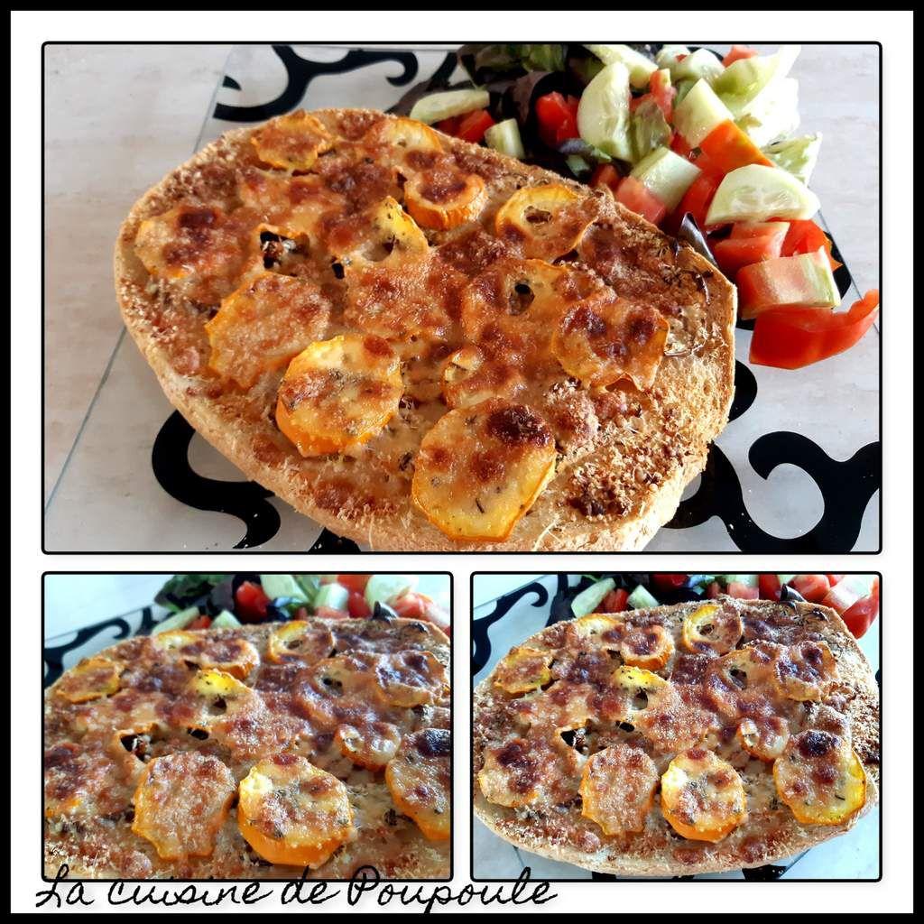 Tartine gratinée aux légumes et deux fromages