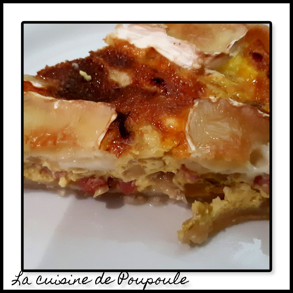 Tarte aux endives, bacon et camembert