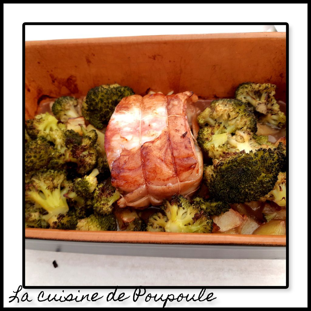 Rôtie de veau au brocolis