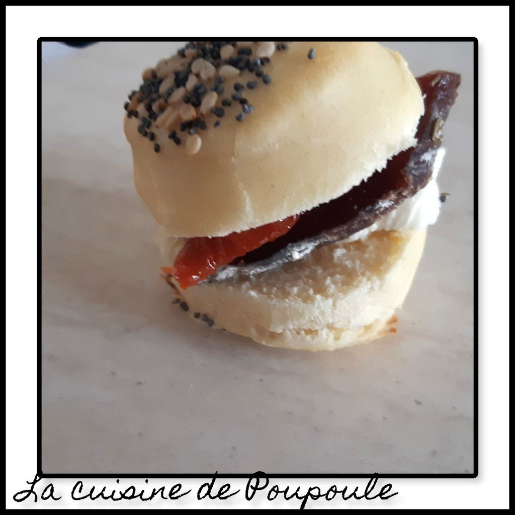 Mini burger avec 4 garnitures