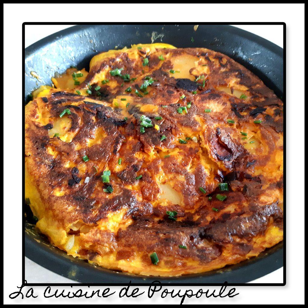 Tortilla au chorizo et emmental