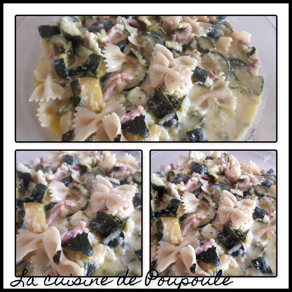 Courgette feta et lardons au cookéo