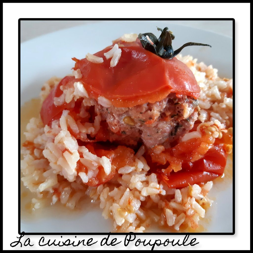 Tomates farcies et riz à la façon de Lolo au cookeo