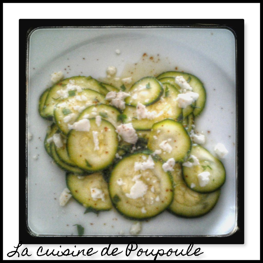 Carpaccio de courgette