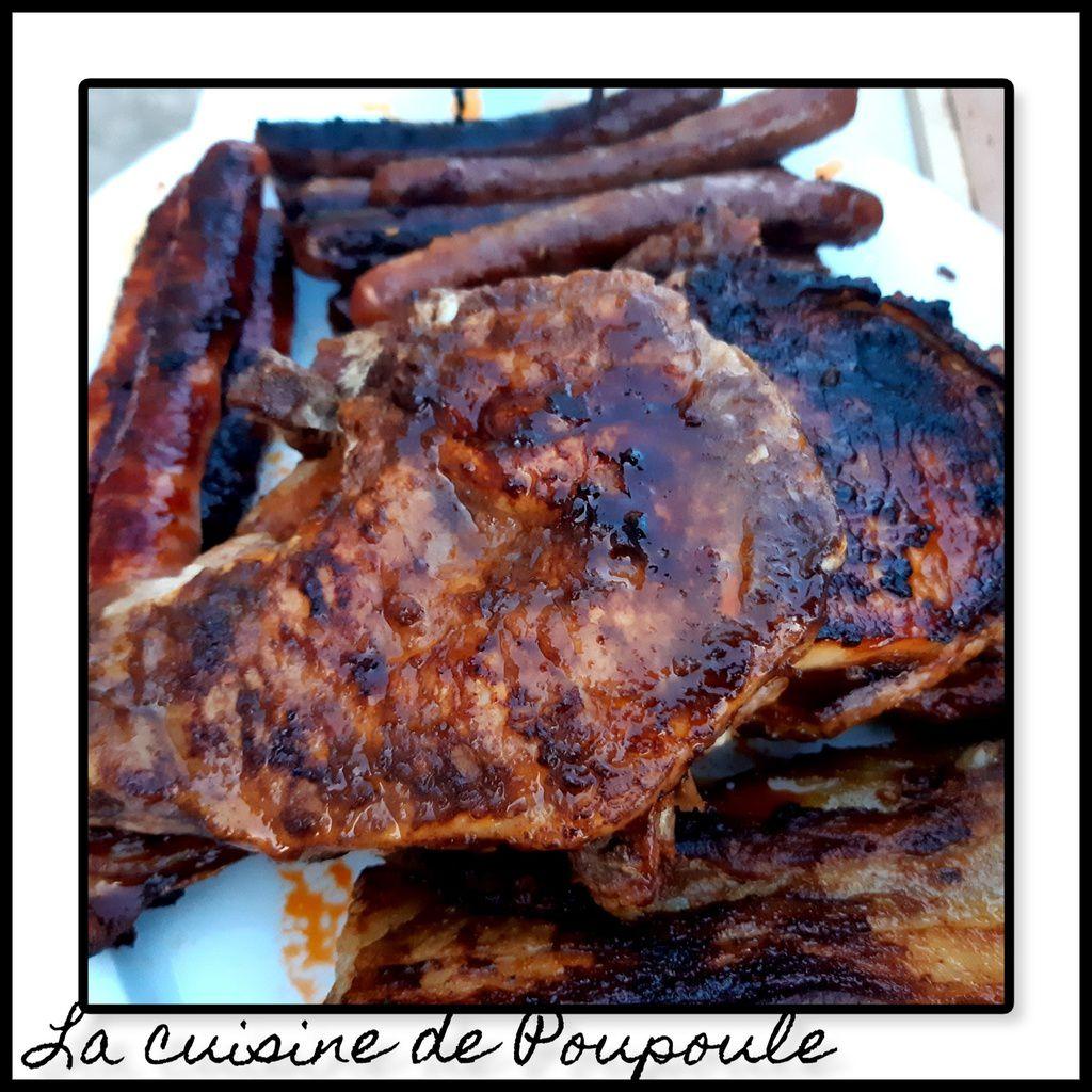 Côte de porc en marinade