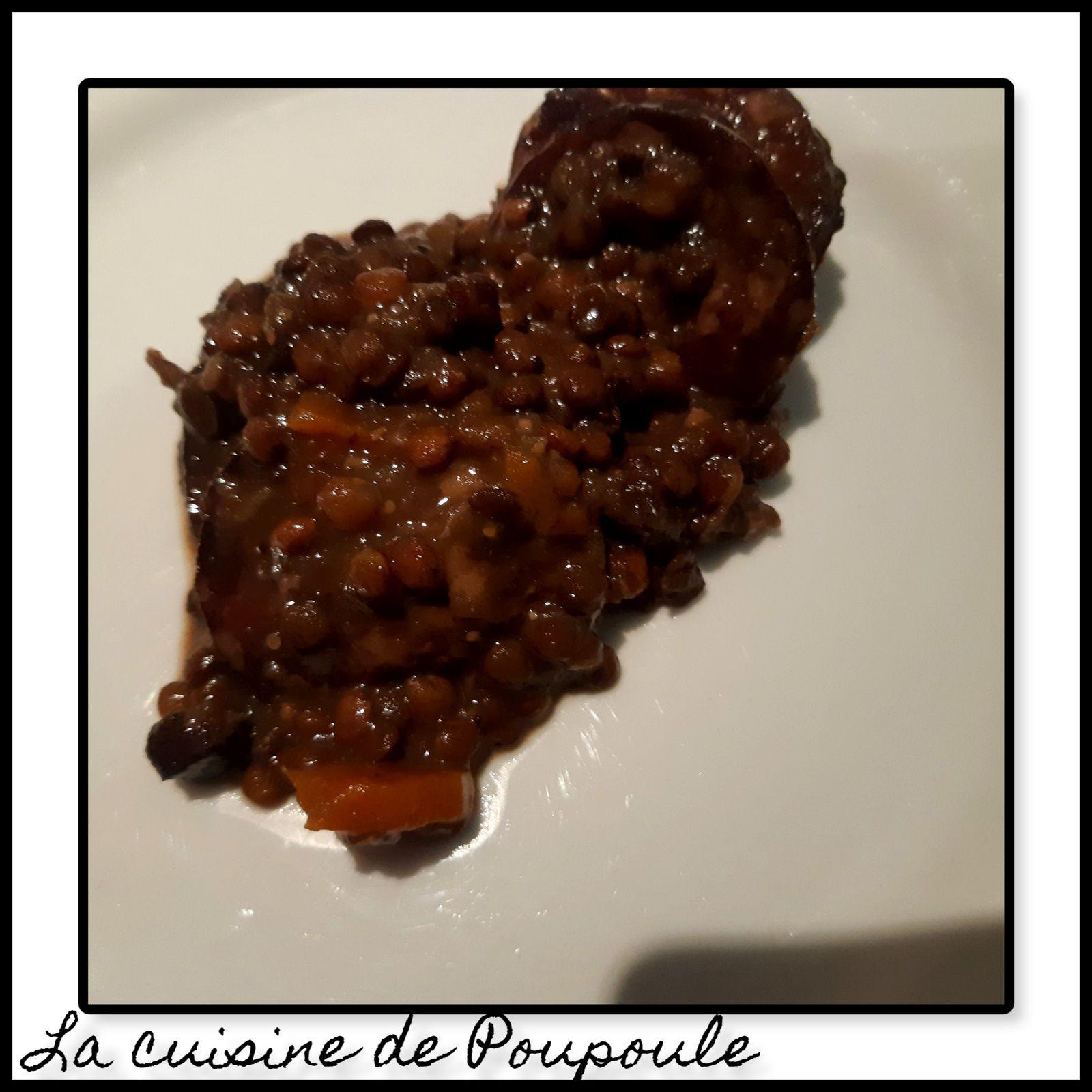 Lentilles à la saucisse de Morteau au Cookéo