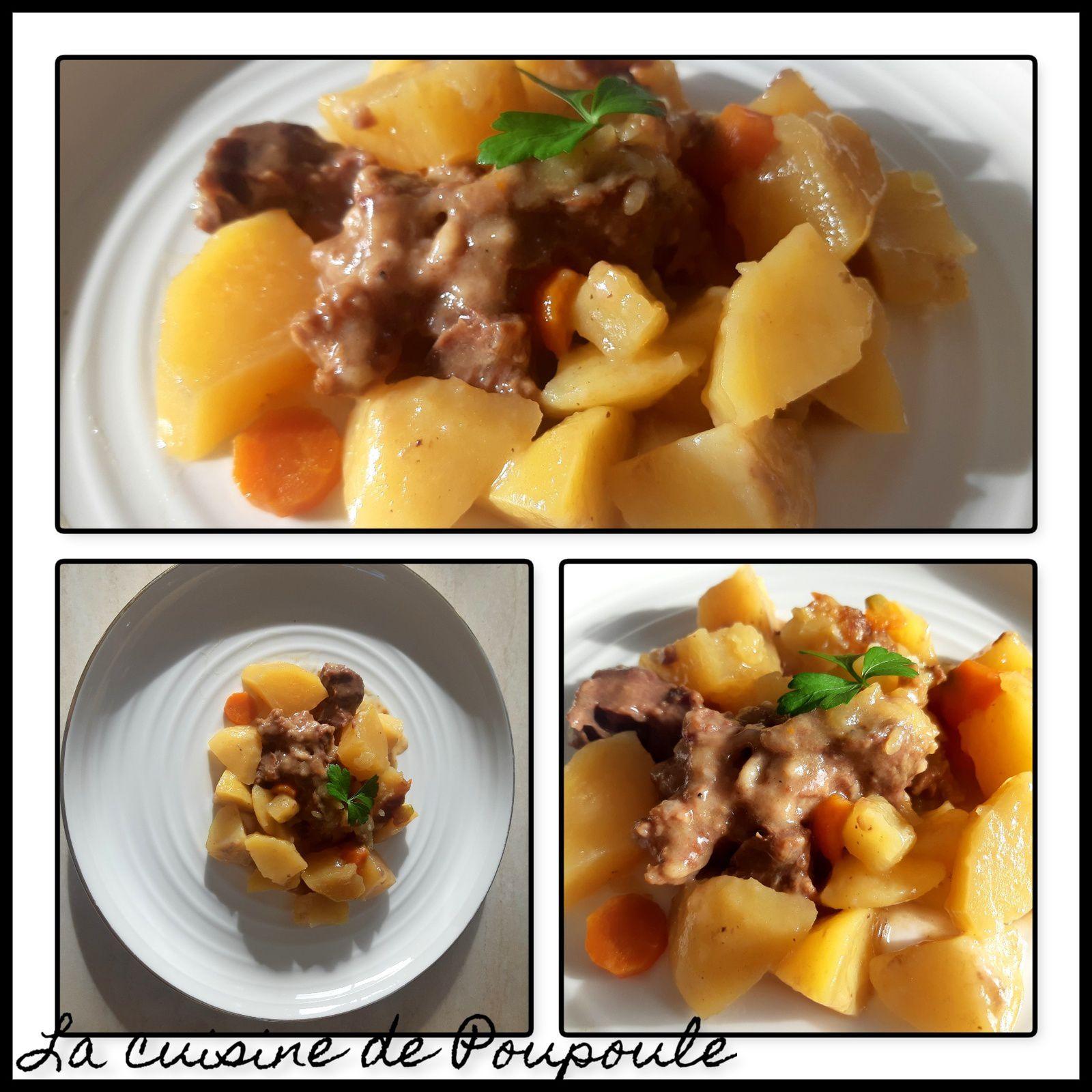 Paleron de bœuf, carotte et pommes de terre