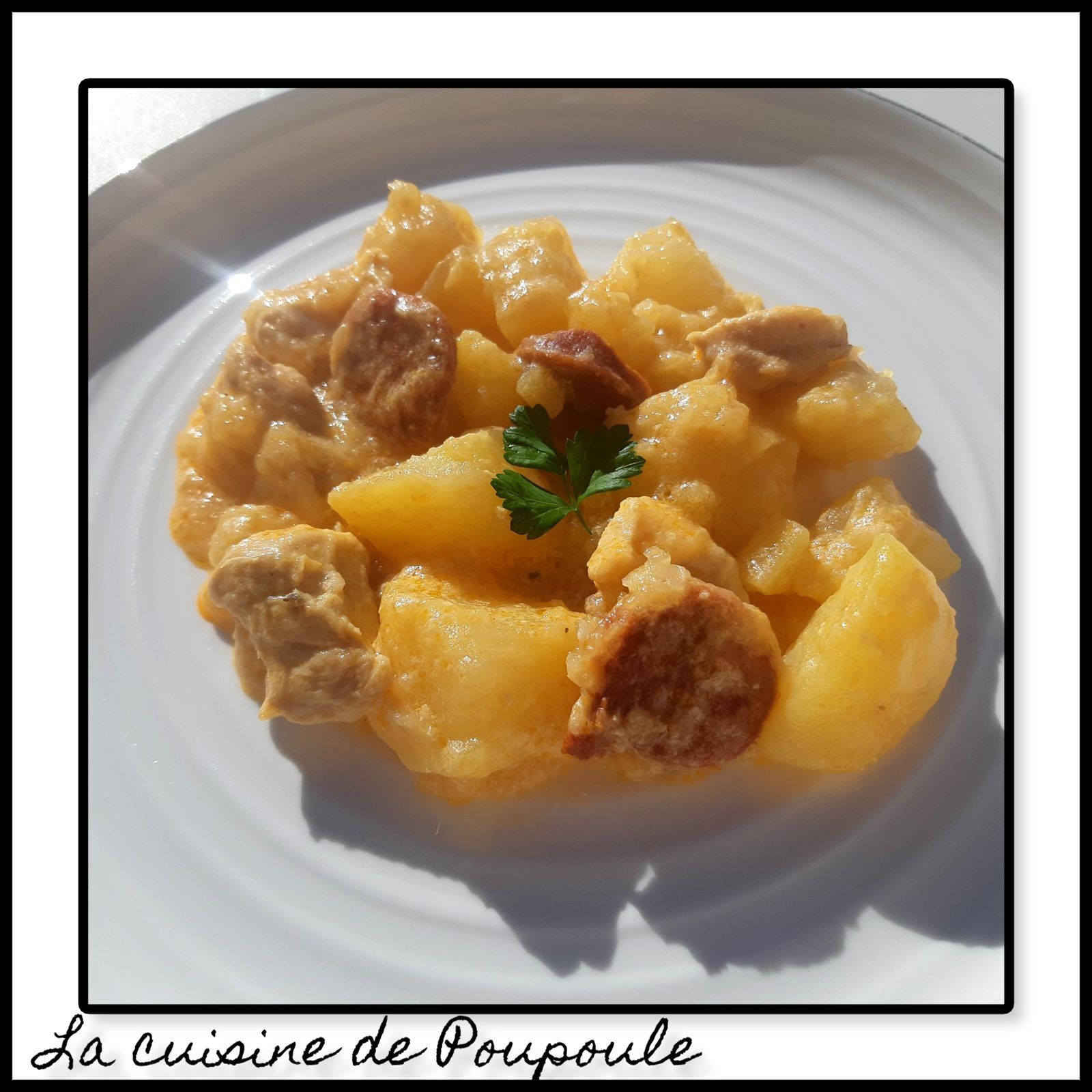 Poulet au chorizo et pomme de terre