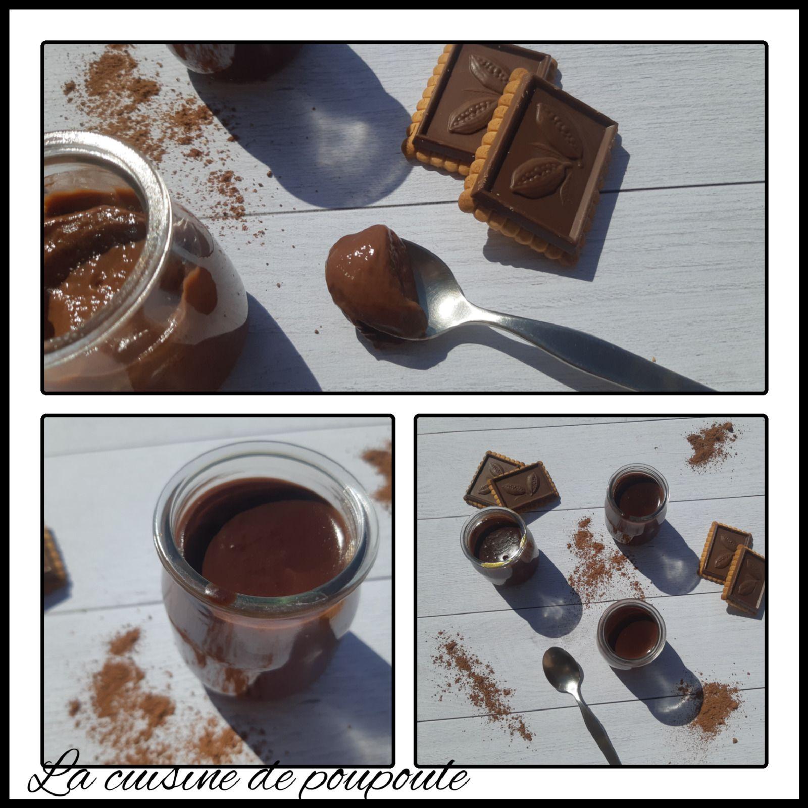 Petits crèmes au chocolat façon Nesquik