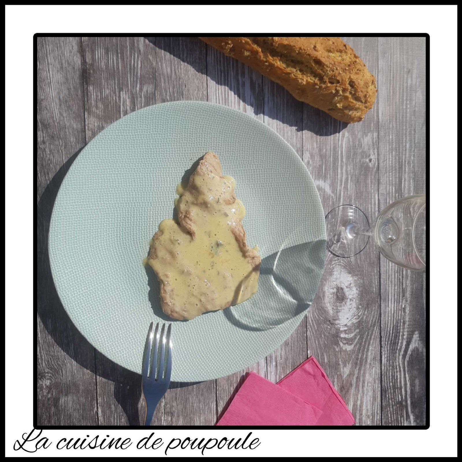Escalopes de veau Roquefort paprika