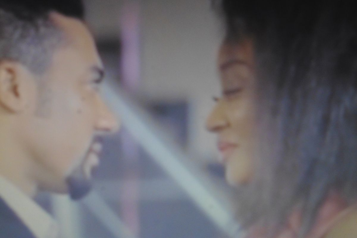 """Mbong Amata and Majid Michel in """"Forgetting June""""."""