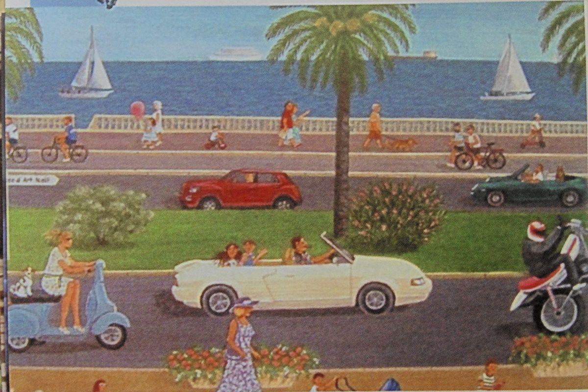 """Claude Uhlmann Cottet, """"The Promenade des Anglais"""", (2014)"""