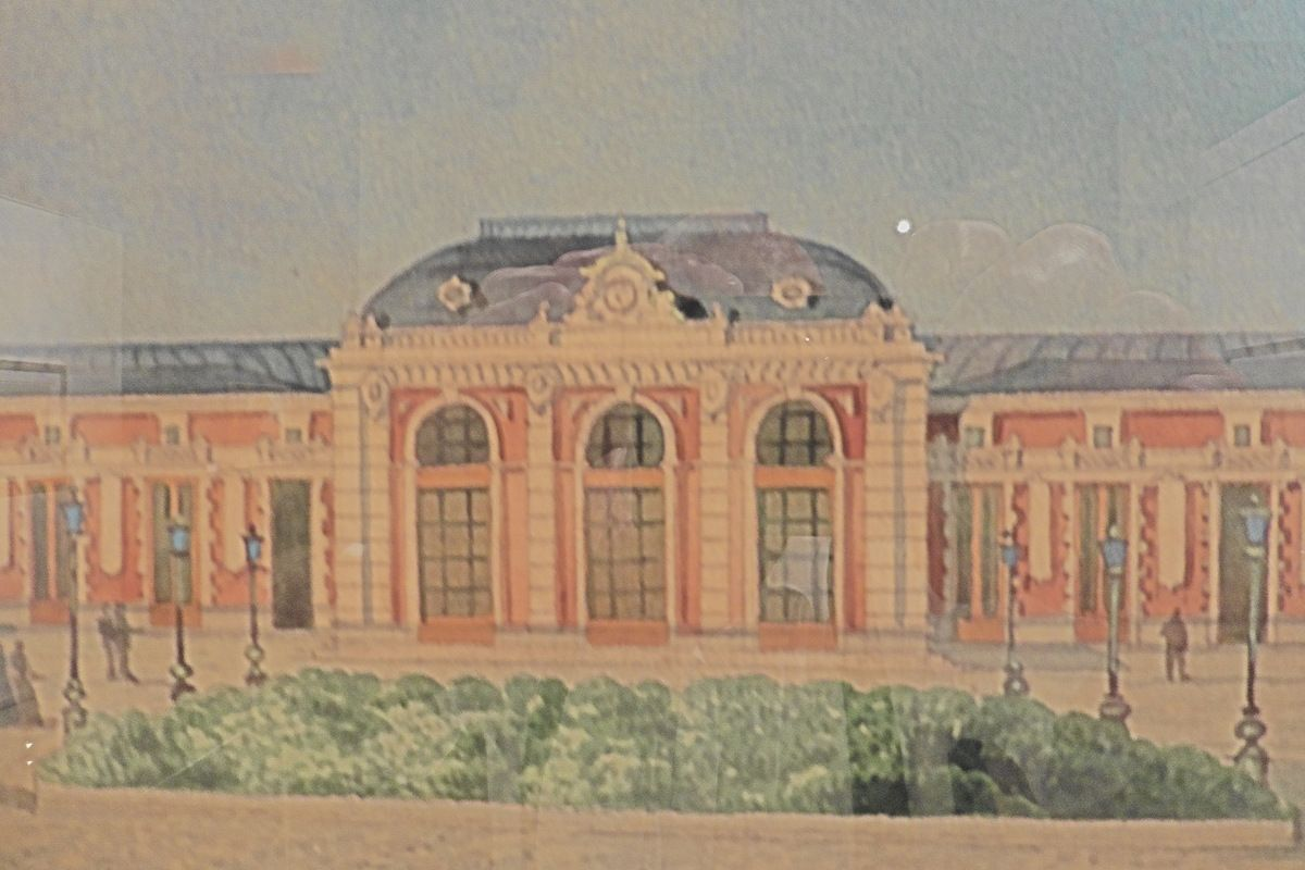 The station of Nice in the 19th century.