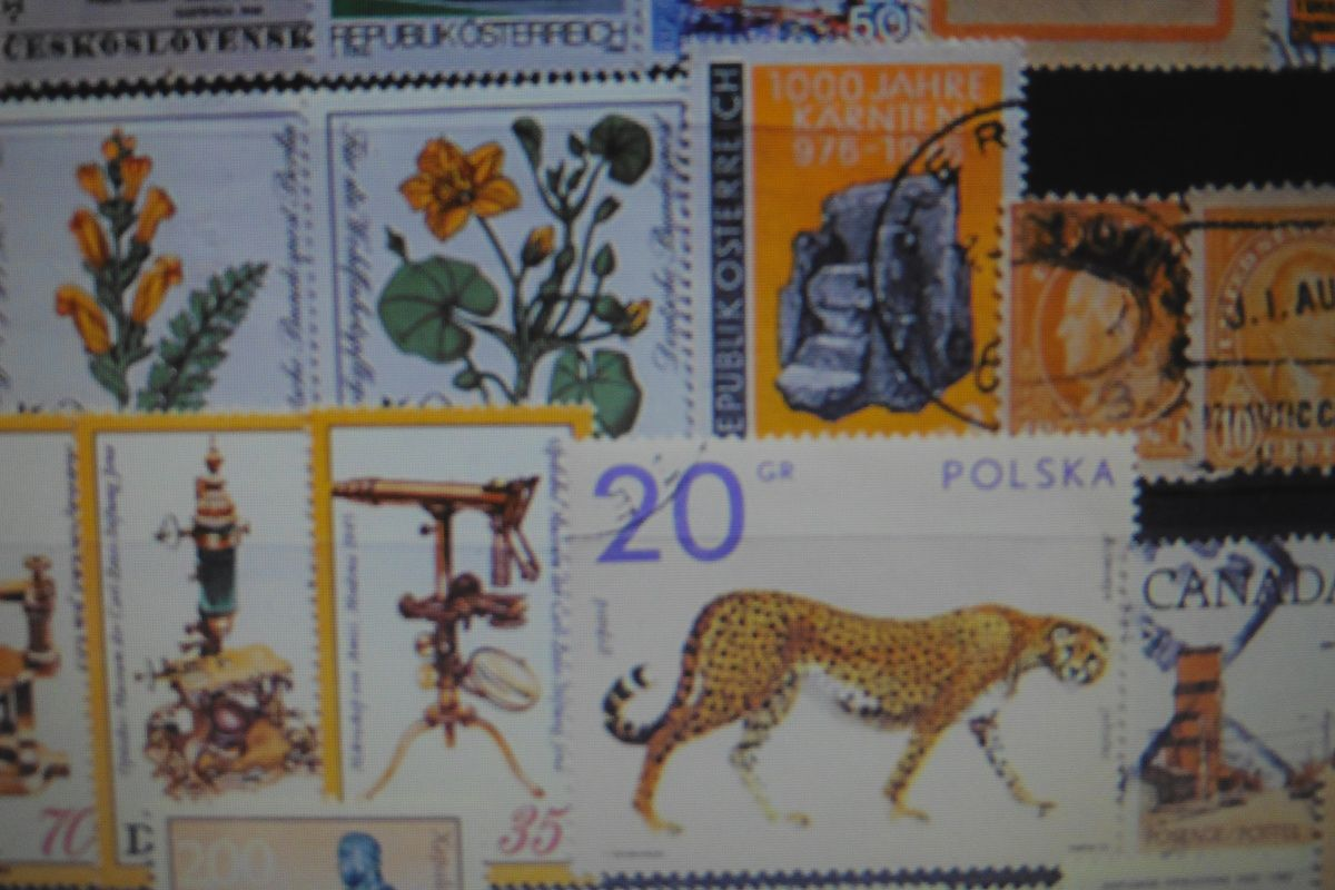 Stamps who belong to the villa Sauber's collection.