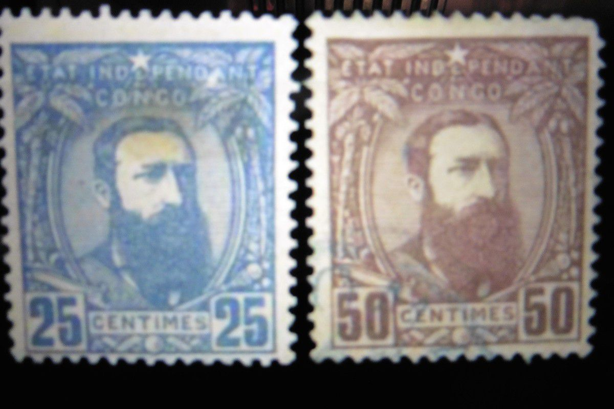 Stamps with the king Léopold II