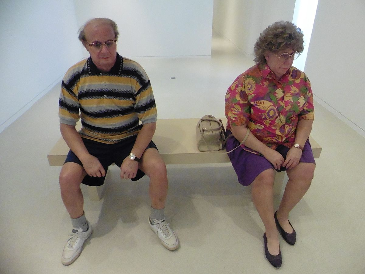 """Duane Hanson """"Old couple on a bench"""" (1994)"""