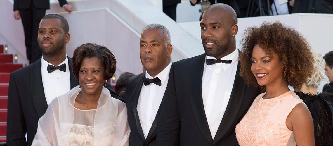 Teddy Riner and his family during the Cannes Film Festival