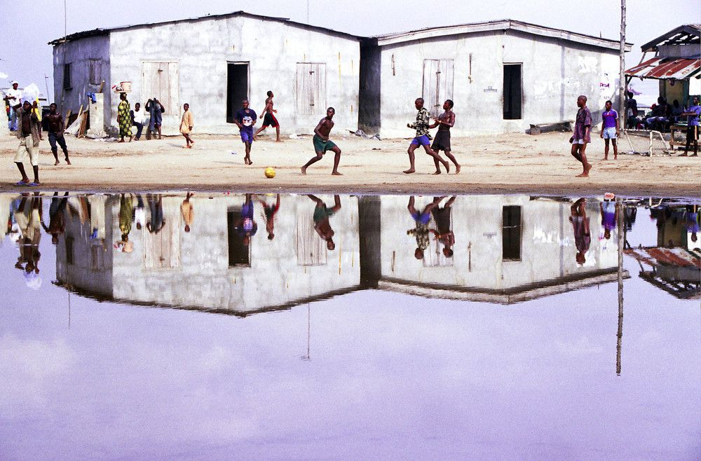 Soccer photographed by Andrew Esiebo