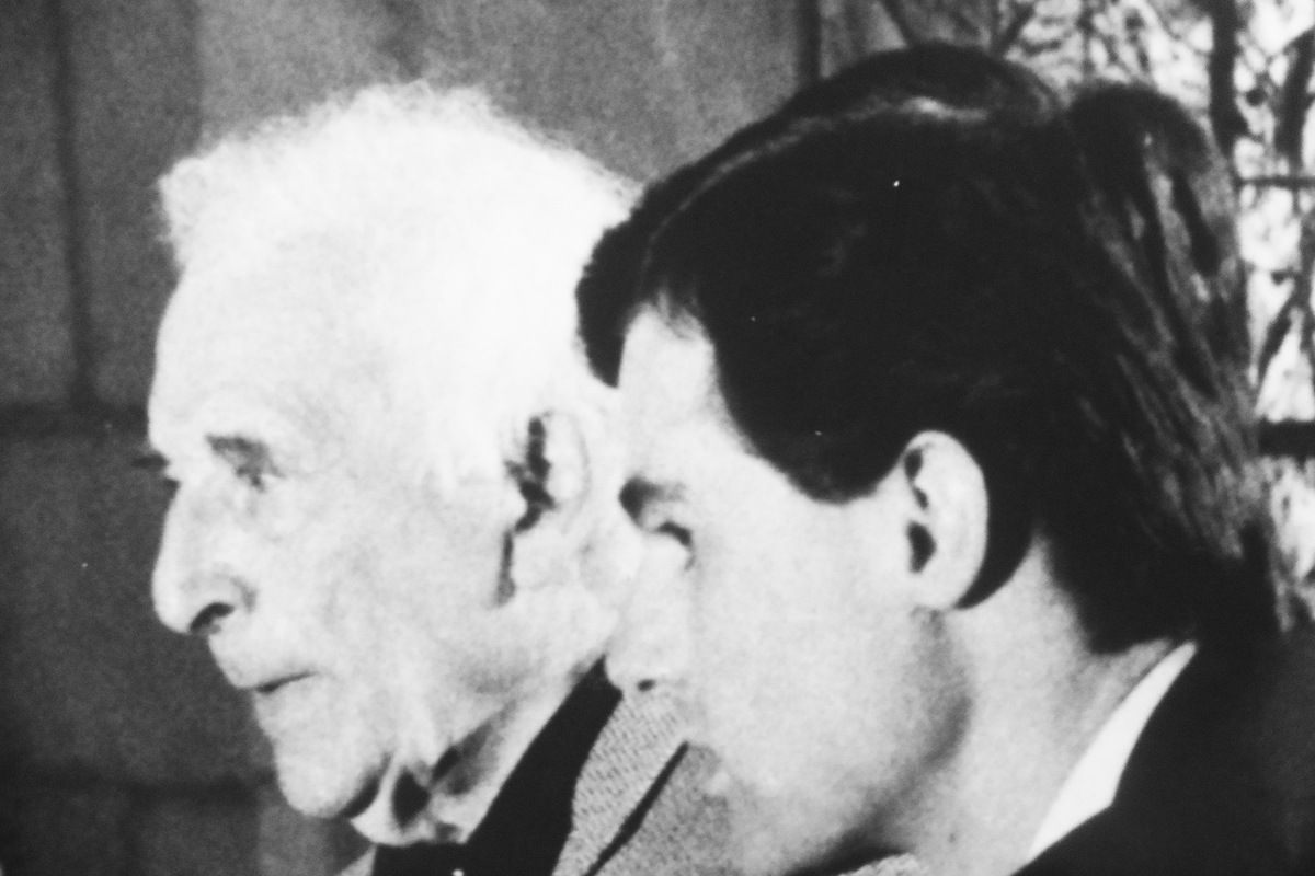 The painter Marc Chagall and the first director of the National Museum Marc Chagall.